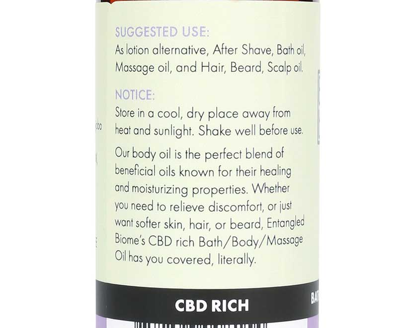 CBD Bath/Body/Massage Oil
